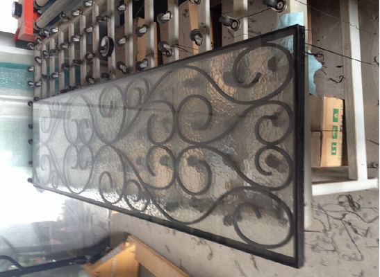 China cheap price black color wrought iron glass supplier