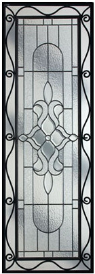 China decorative glass panel with iron art supplier