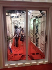 China decorative glass panels in French door/wooden door supplier