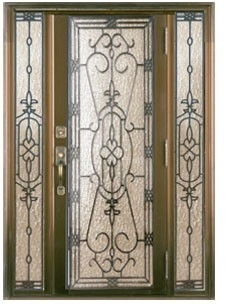 China iron glass panels in door supplier