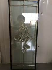 "China golden brass caming decoarative glass panel 1""thickness of high quality supplier"