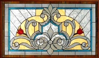 "China tempered stained glass for windows 1""thickness supplier"