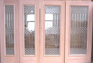China New design decorative door glass with zinc caming supplier