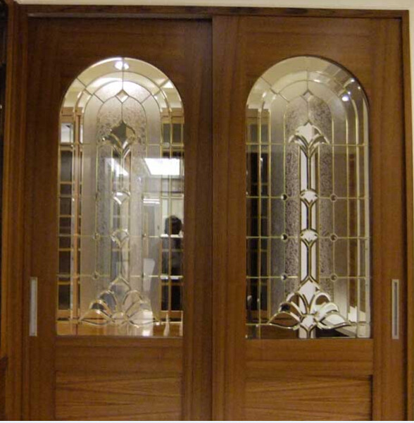 Cheap Price Brass Caming Decorative Glass For Wooden Door