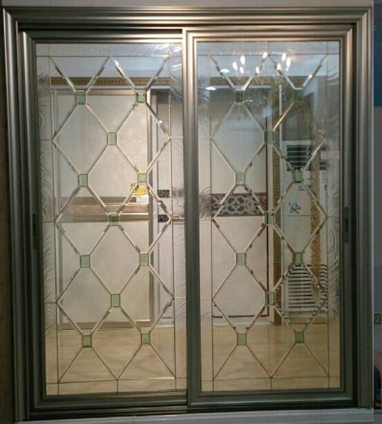 Decorative Glazing In Doors : Decorative glass panels in french door wooden