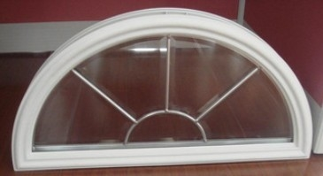 glass with vinyl frames in door