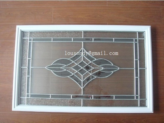 triple  glass panel with  frame in door