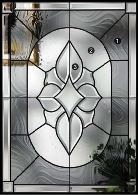 patina caming decorative glass panel  in doors and windows