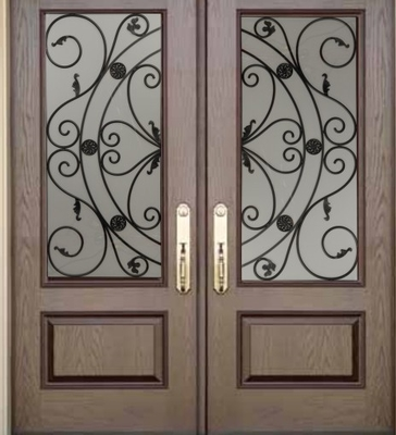 wrought iron glass made in China