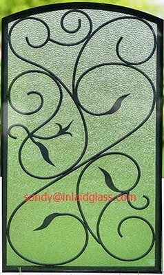 interior doors wrought iron glass made in China