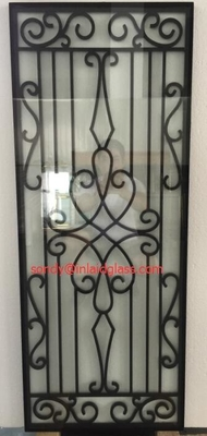 cheap price wrought iron glass of 10*10 MM black steel bar
