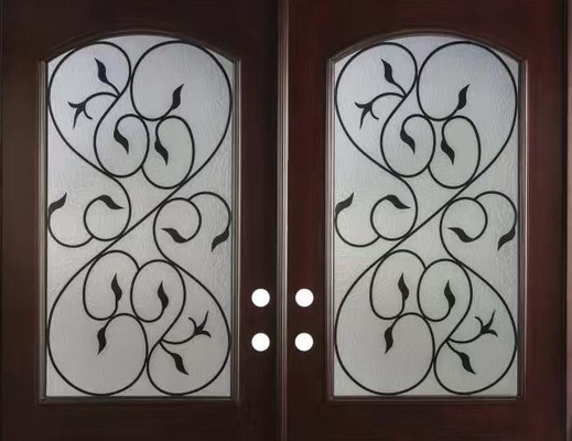 wrought iron glass with 10*10 steel  bar
